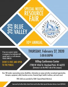 2020 Blue Valley Special Needs Resource Fair